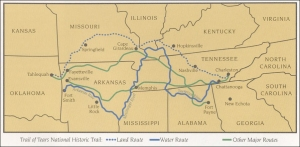 TRAIL OF TEARS ROUTE MAP