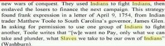 YAMASSEE SLAVES